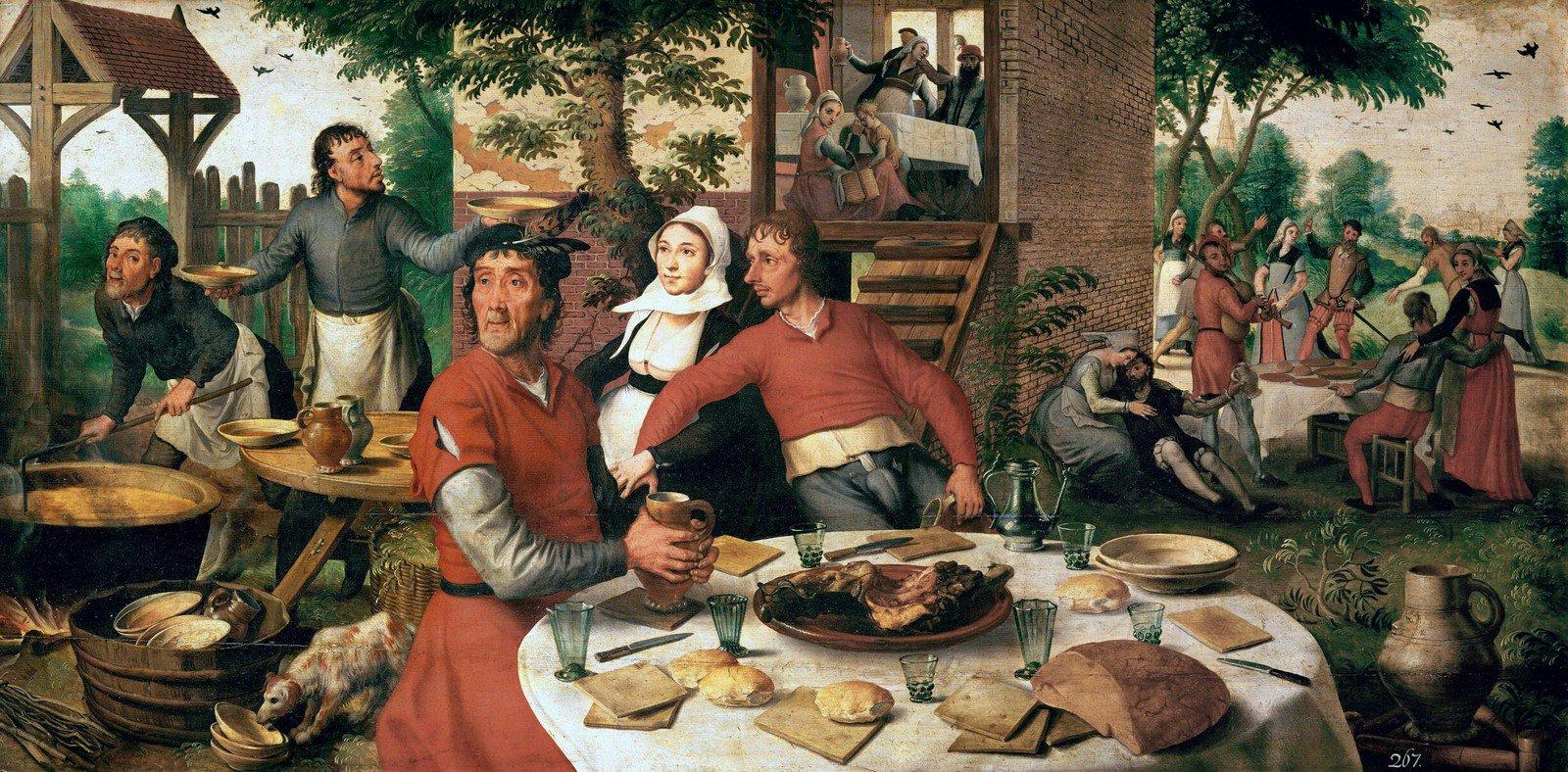 Застолье в средневековье